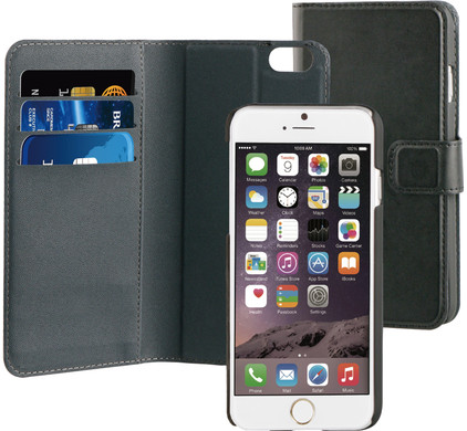 BeHello 2-in-1 Wallet Case Apple iPhone 6/6S Zwart