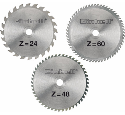 Einhell Set de lames pour scie 210 x 30 x 2,5 mm 24/48/60T