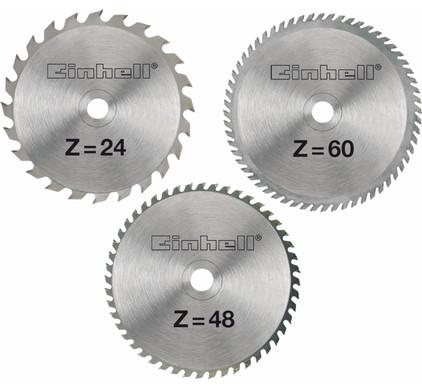 Einhell Zaagbladenset 250x30x3mm 24/48/60T