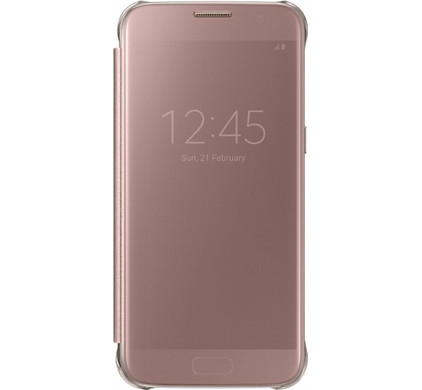 Samsung Galaxy S7 Edge Clear View Cover Rose Gold - Coolblue - Voor 23.59u,  morgen in huis 8542992738ff