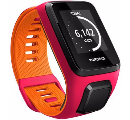 TomTom Runner 3 Cardio Dark Pink/Orange - S