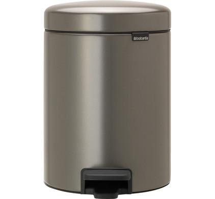 Brabantia NewIcon Pedaalemmer 5 Liter Platinum