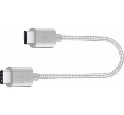Belkin USB C naar USB C Kabel 15cm Zilver