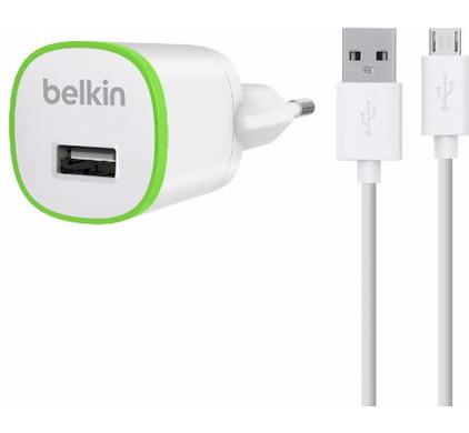 Belkin Micro USB Thuislader 1A 1,2m Wit
