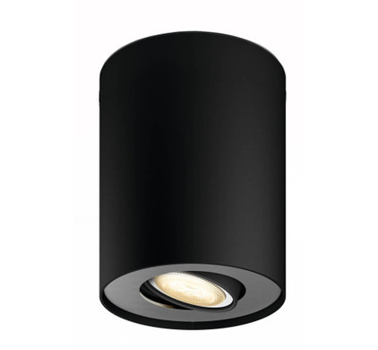 Philips Hue Pillar Extra Single Spot Zwart