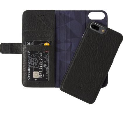 Decoded Leather 2-in-1 Wallet Case Apple iPhone 6 Plus/6s Plus/7 Plus/8 Plus Zwart