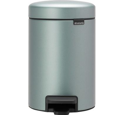 Pedaalemmer Brabantia 10 Liter.Brabantia Newicon Pedal Trash Can 3 Liters Metallic Mint