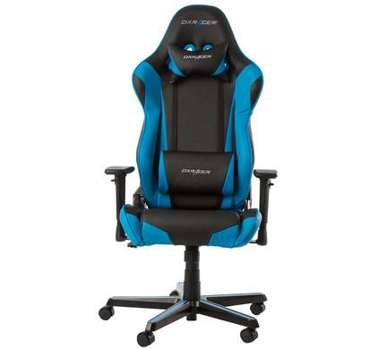 DX Racer RACING Gaming Chair Zwart/Blauw