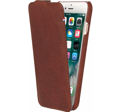 Decoded Leather Flipcase iPhone 7/6/6s Bruin