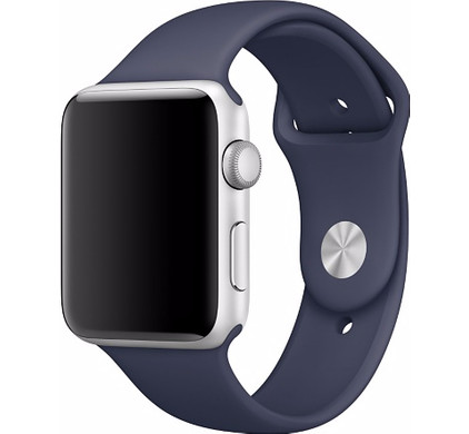 Apple Watch 42mm Polsband Sport Middernachtblauw