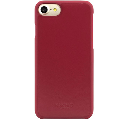 Knomo Leather Back Cover Apple iPhone 7/8 Rood