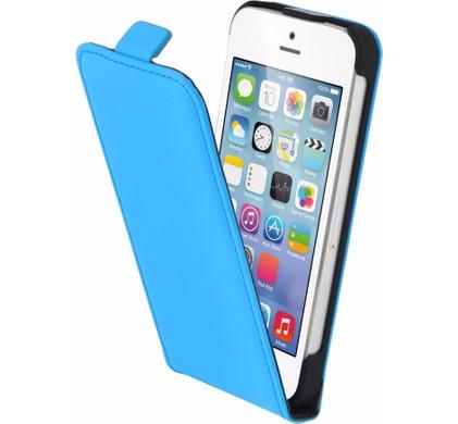 Mobiparts Premium Flip Case Apple iPhone 5/5S/SE Blauw