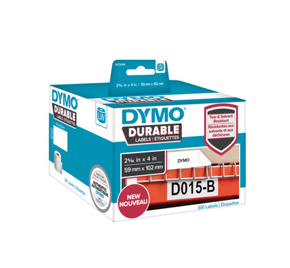 Dymo LW Duurzame Label Wit 50 Labels (59 mm x 102 mm)