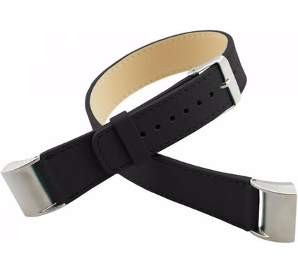 Just in Case Leren Watchband Fitbit Charge 2 Black
