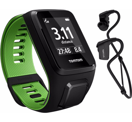 TomTom Runner 3 Cardio + Music + Headphone Black/Green - S