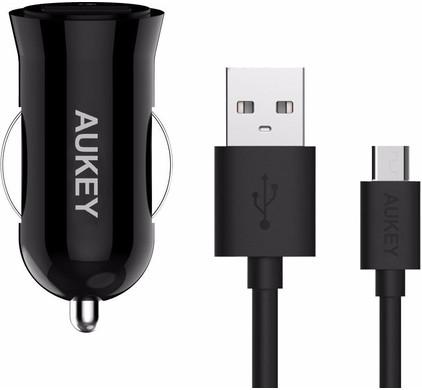 Aukey Autolader USB 3,0A Zwart