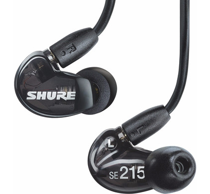 Shure SE215-K + verlengkabel 1,5m