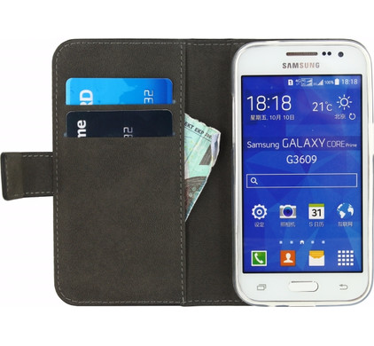 Mobilize Gelly Wallet Book Case Samsung Galaxy Core Prime Zwart