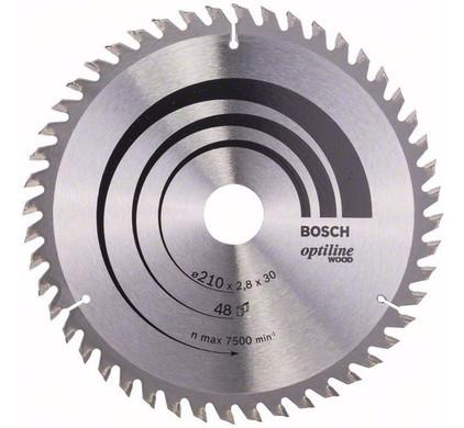 Bosch Zaagblad Optiline Wood 210x30x2.8mm T48