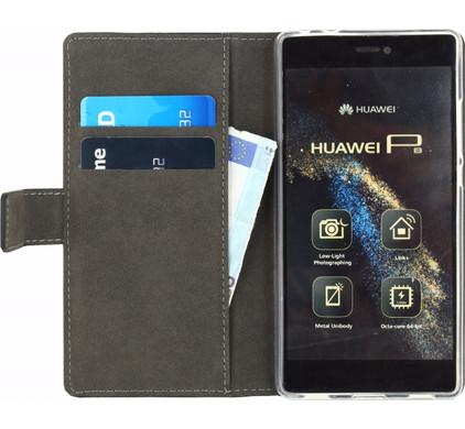 Mobilize Gelly Wallet Book Case Huawei P8 Zwart