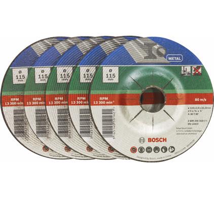 Bosch Slijpschijf Metaal 115 mm 5 stuks