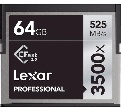 Lexar 64 Go CFast 2.0 Professional 3500x 525 MB/s