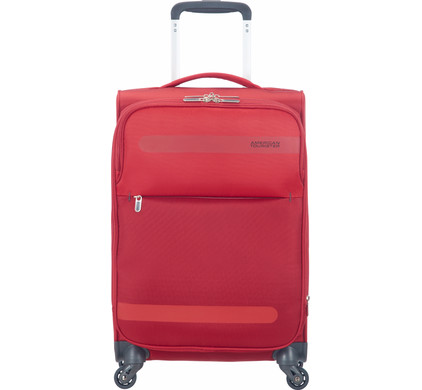 American Tourister Herolite Super Light Expandable Spinner 55cm Formula Red