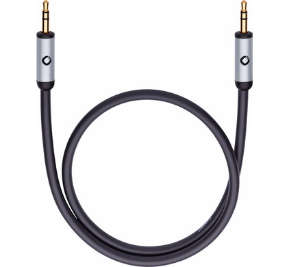Oehlbach i-Connect J-35 3,5 mm naar 3,5 mm kabel 5 meter Zwart