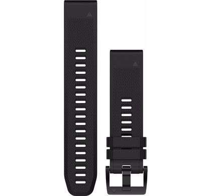 Garmin QuickFit 22mm Rubber Horlogeband Zwart