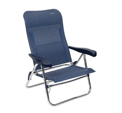 Crespo Strandstoel AL-205 Donker Blauw
