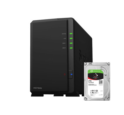 Synology DS216play + 2 TB