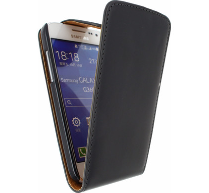Xccess Leather Flip Case Samsung Galaxy Core Prime Zwart