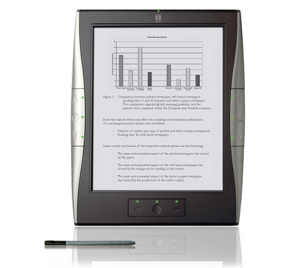 iRex Digital Reader 1000S + iRex Flip-over Cover Black/White