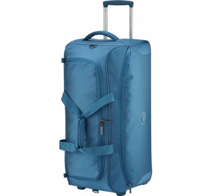 Delsey U-Lite Classic 2 Wheel Trolley Duffle Bag Cyan