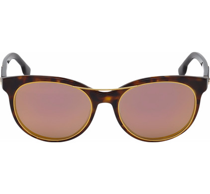 Diesel DL0213 52X Dark Havana / Blue Mirror