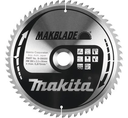 Makita Zaagblad 260x30x2,3 32T