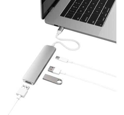 Hyper USB-C Adapter Kit met HDMI Zilver USB 3.1