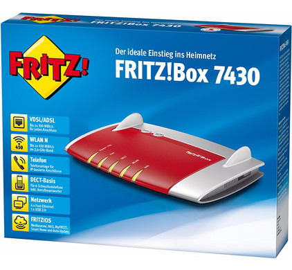 AVM <b>FRITZ!Box 7430</b> International - Coolblue - anything for a smile
