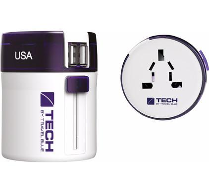 Travel Blue Twist & Slide Adapter Dual USB - Europa