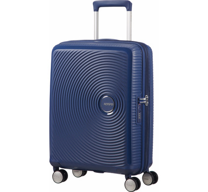 American Tourister Soundbox Expandable Spinner 55cm Midnight Navy