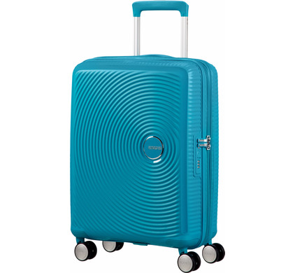 American Tourister Soundbox Expandable Spinner 55cm Summer Blue