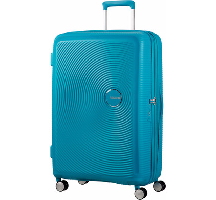 American Tourister Soundbox Expandable Spinner 77cm Summer Blue