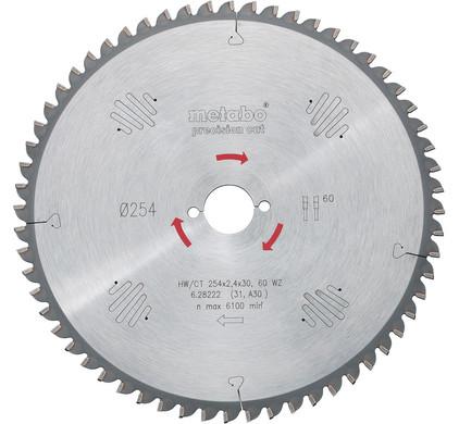 Metabo Zaagblad Precision Cut 254x30x2.4mm 48T