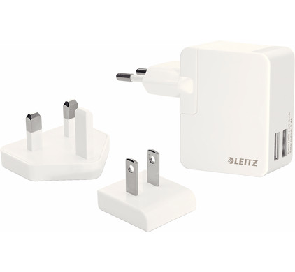 Leitz Complete Travel Charger 2X USB Wit