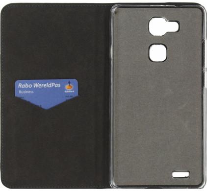 Mobilize Magnet Book Card Stand Huawei Ascend Mate 7 Zwart