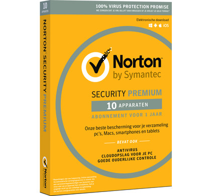 Norton Security Premium 3.0 + 25 GB 1 jaar abonnement