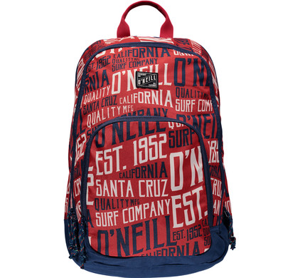 O'Neill BM Wedge Backpack Red AOP White