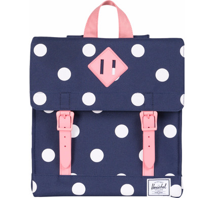 Herschel Survey Kids Peacoat Polka Dot/Strawberry Ice Rubber
