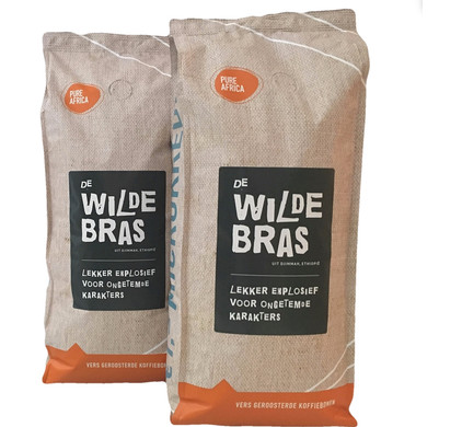 Pure Africa Wildebras Arabica Grains de Café 2 kg