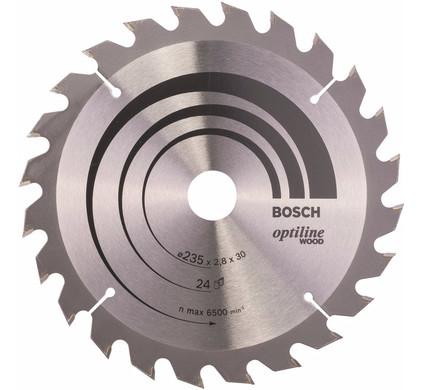 Bosch Cirkelzaagblad Optiline Wood 235x2,8x30 24T